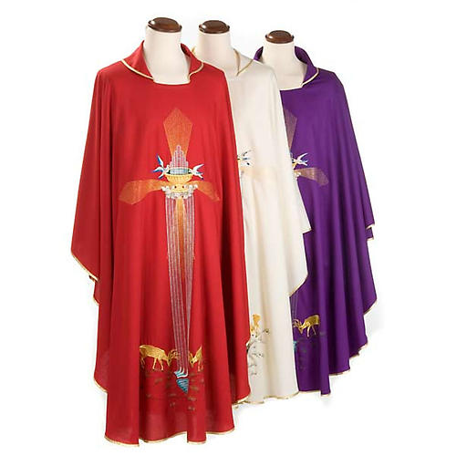 Chasuble with deer, stoop, loaves and fish 1