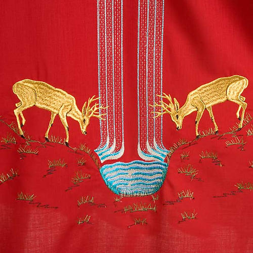 Chasuble with deer, stoop, loaves and fish 6