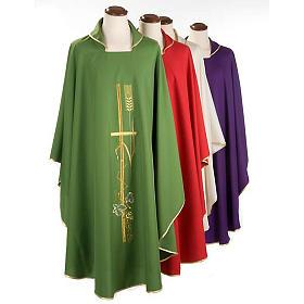 Casula sacerdotale spighe dorate vari colori s1