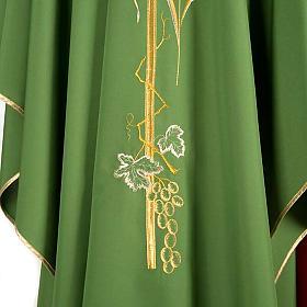 Casula sacerdotale spighe dorate vari colori s4