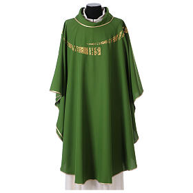 Casulla litúrgica IHS amabas caras s3