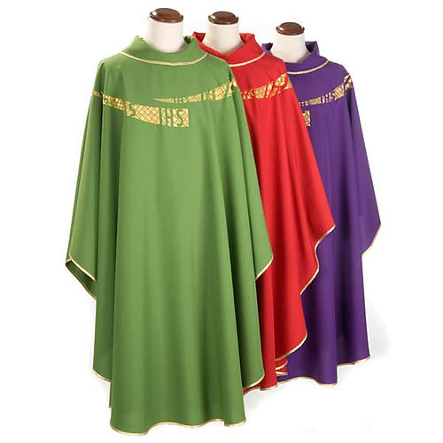 Casulla litúrgica IHS amabas caras 1