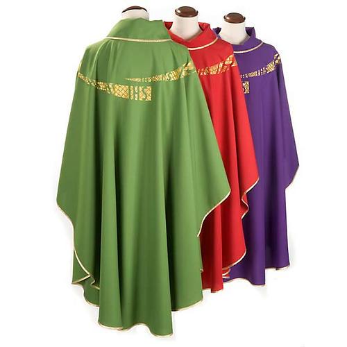 Casulla litúrgica IHS amabas caras 2