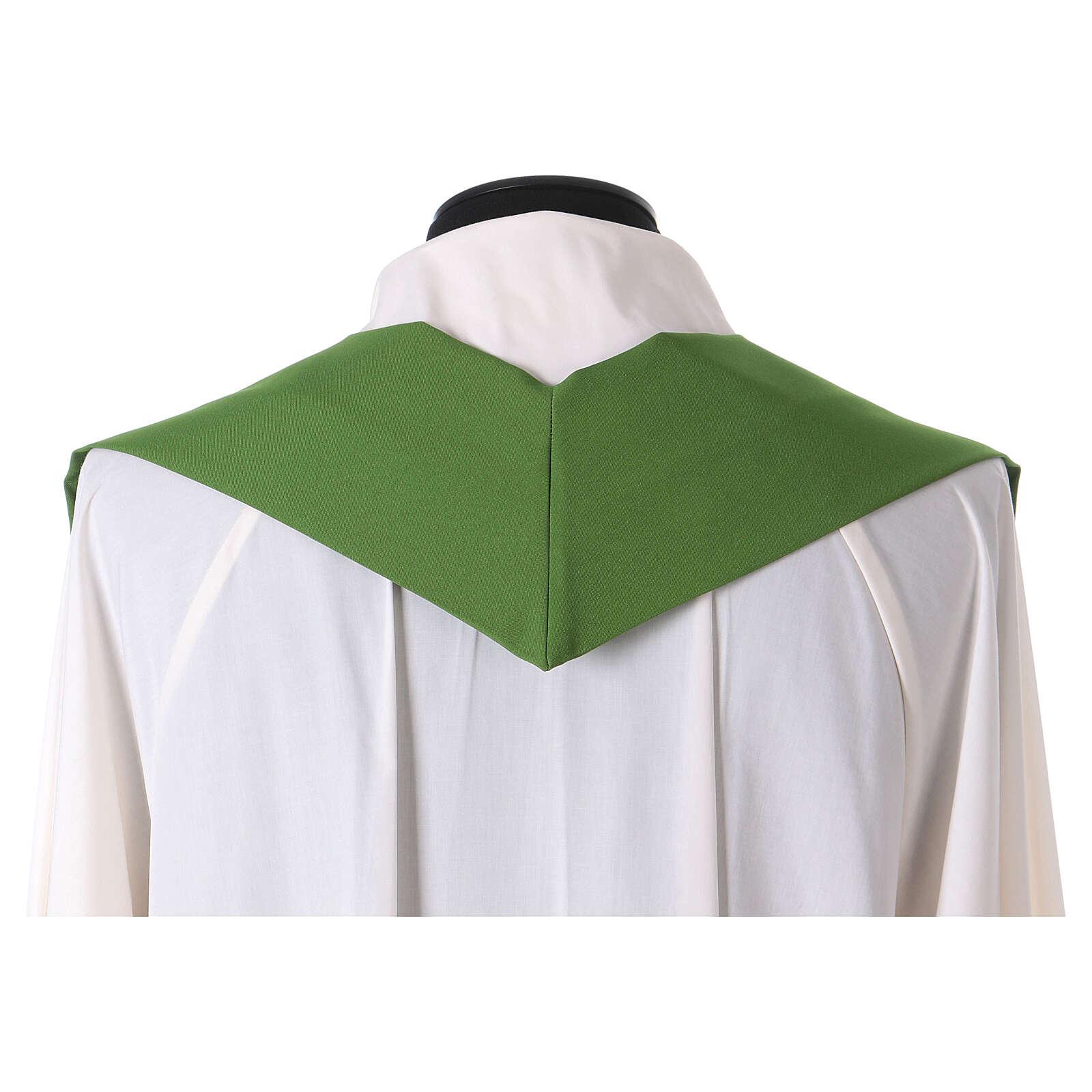 Casula liturgica decoro IHS fronte e retro 4