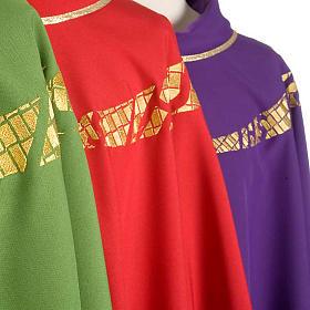 Casula liturgica decoro IHS fronte e retro s4