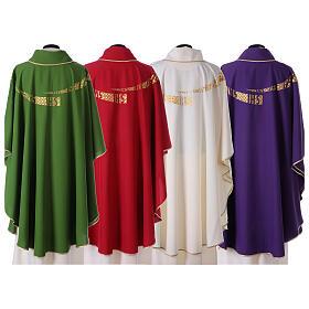 Casula liturgica decoro IHS fronte e retro s8
