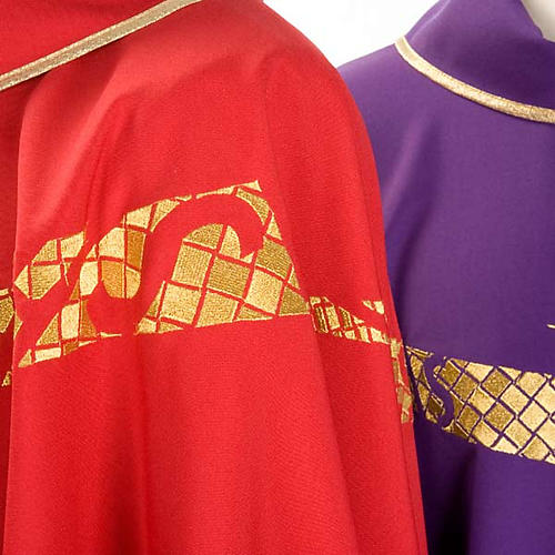 Casula liturgica decoro IHS fronte e retro 3