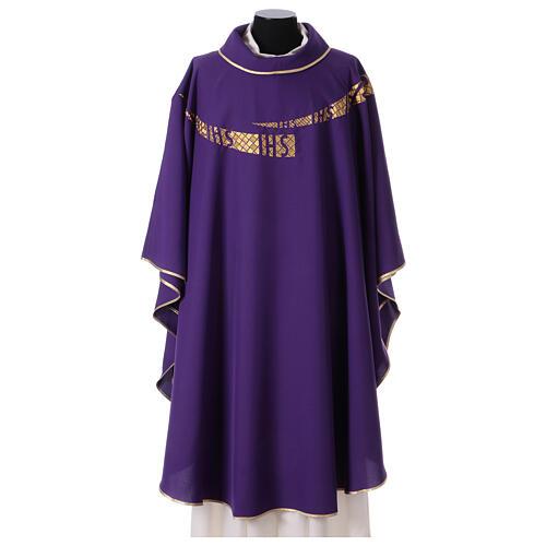Casula liturgica decoro IHS fronte e retro 6