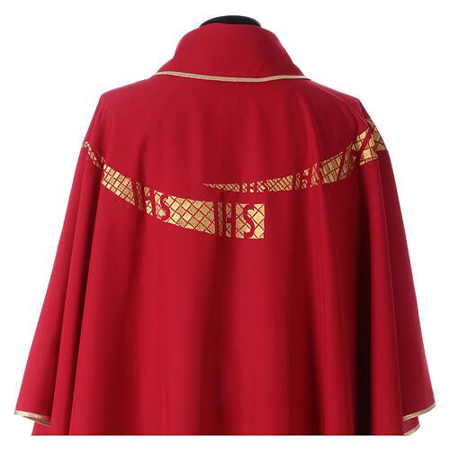 Casula liturgica decoro IHS fronte e retro 7