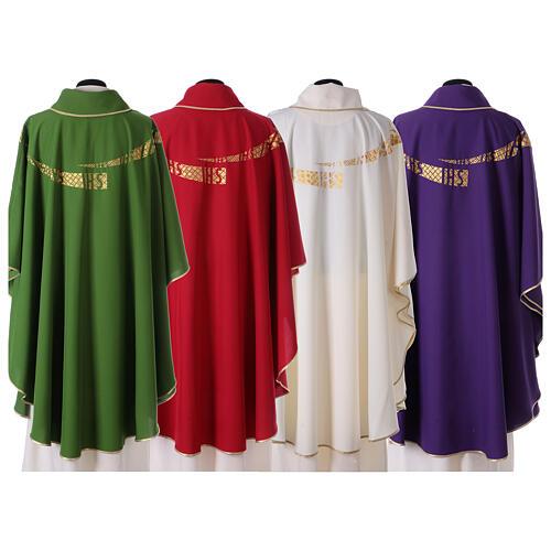 Casula liturgica decoro IHS fronte e retro 8
