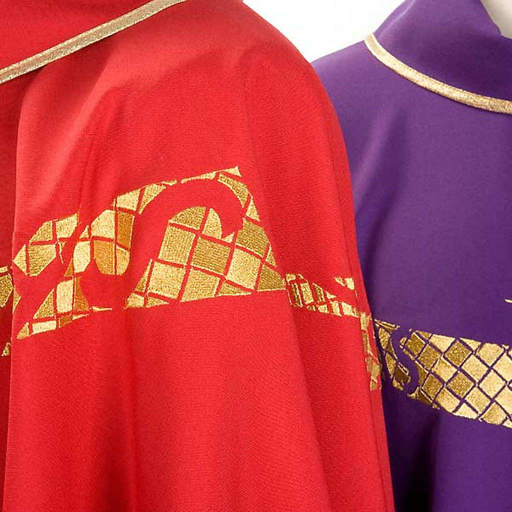 Priest Chasuble with IHS symbol embroidered 4