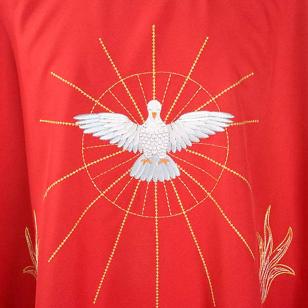 Chasuble with Holy Spirit and flames 4