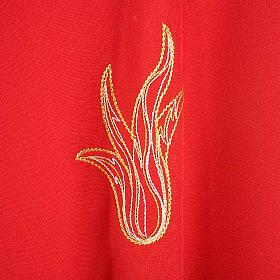 Casulla Espíritu Santo y llamas color rojo s4