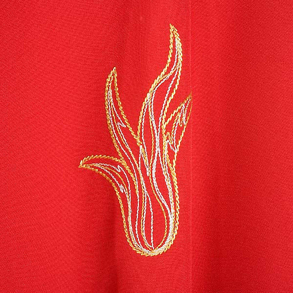 Red Chasuble with Holy Spirit and Flames 4