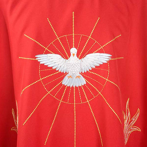 Red Chasuble with Holy Spirit and Flames 3