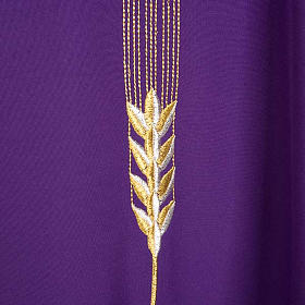 Liturgical vestment with IHS symbol, ears of wheat, chalice s7