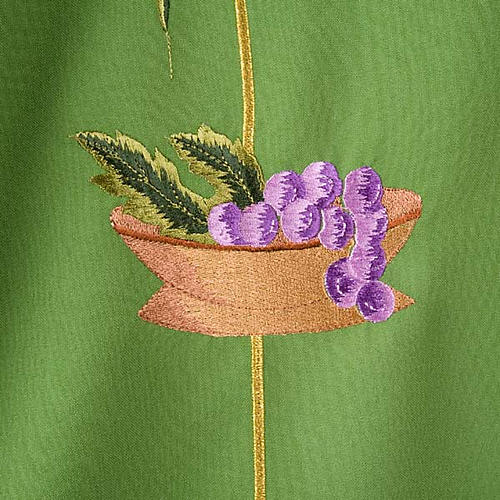Liturgical vestment with IHS symbol, ears of wheat, chalice 3