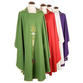 Casula sacerdotale IHS spiga calice uva s1