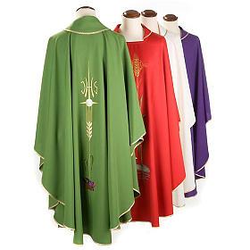 Casula sacerdotale IHS spiga calice uva s2