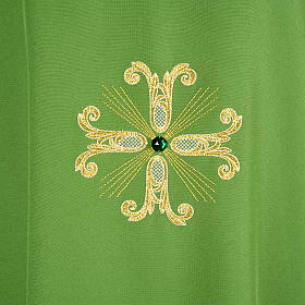 Chasuble with three crosses and glass pearl s3