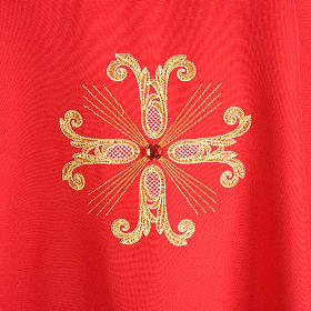 Chasuble with three crosses and glass pearl s4