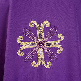 Chasuble with three crosses and glass pearl s6
