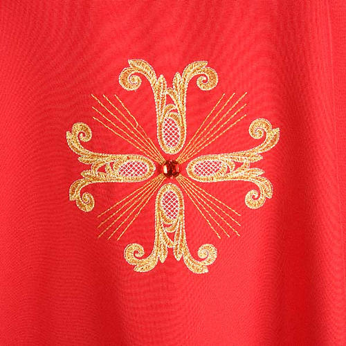Chasuble with three crosses and glass pearl 4