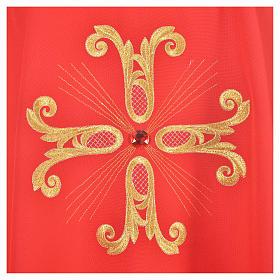 Casulla cruz dorada perlas de vidrio s7