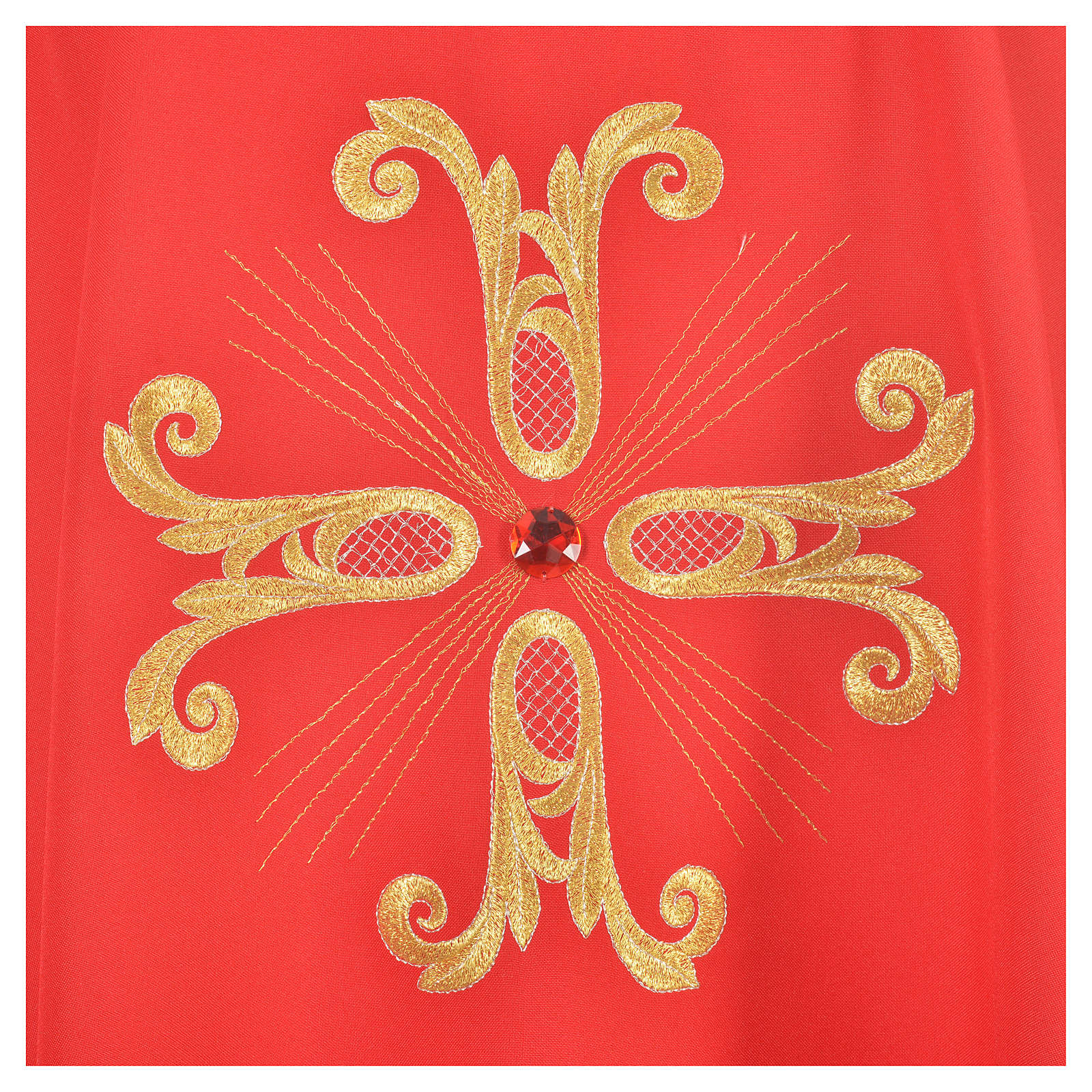 Casula croce dorata perlina vetro 4
