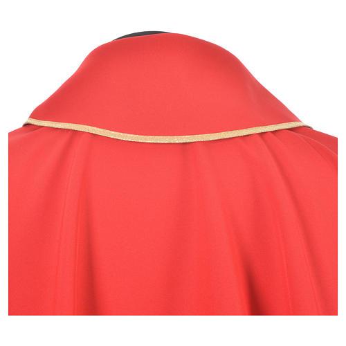 Casula croce dorata perlina vetro 8