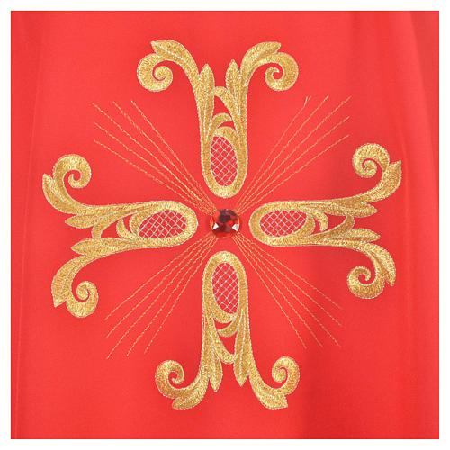 Ornat krzyż złocony perełka szklana 7