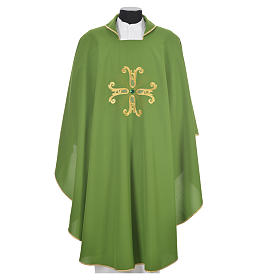 Catholic Chasuble with cross and glass pearl s6