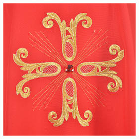 Catholic Chasuble with cross and glass pearl s7