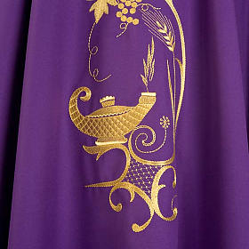 Chasuble with gold lamp and ears of wheat s7