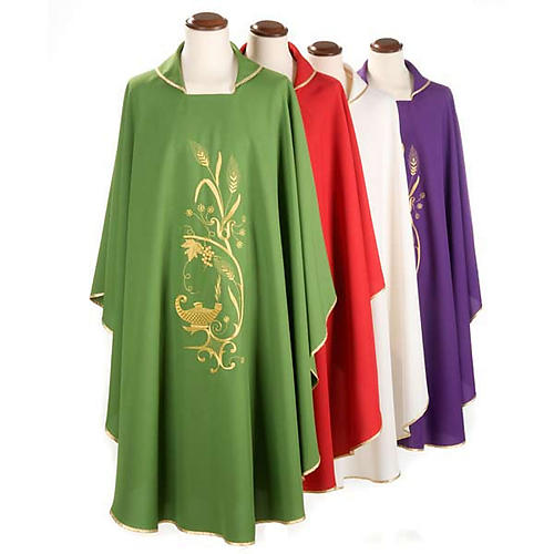 Chasuble with gold lamp and ears of wheat 1