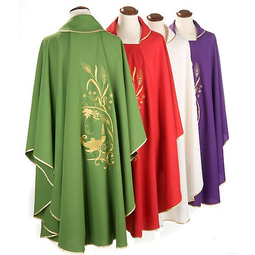 Chasuble with gold lamp and ears of wheat 2