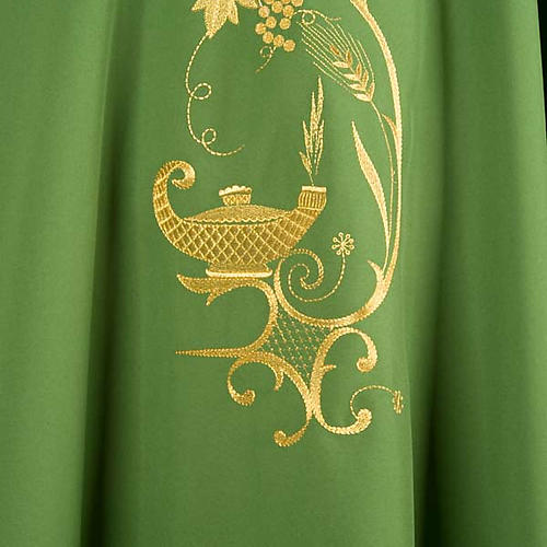 Chasuble with gold lamp and ears of wheat 3