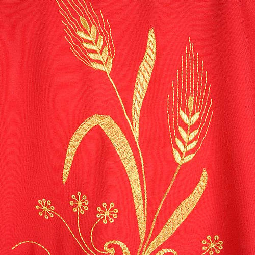 Chasuble with gold lamp and ears of wheat 6