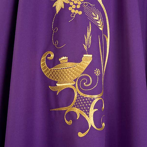 Chasuble with gold lamp and ears of wheat 7