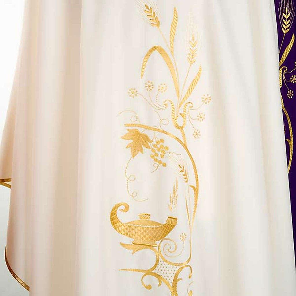 Chasuble liturgique lampe épis dorés 4