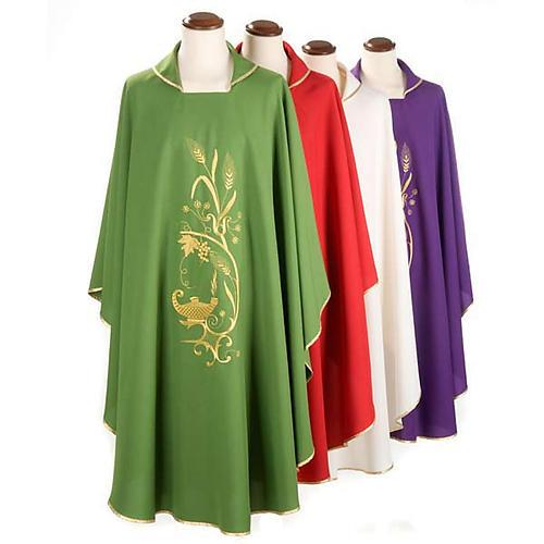 Chasuble liturgique lampe épis dorés 1