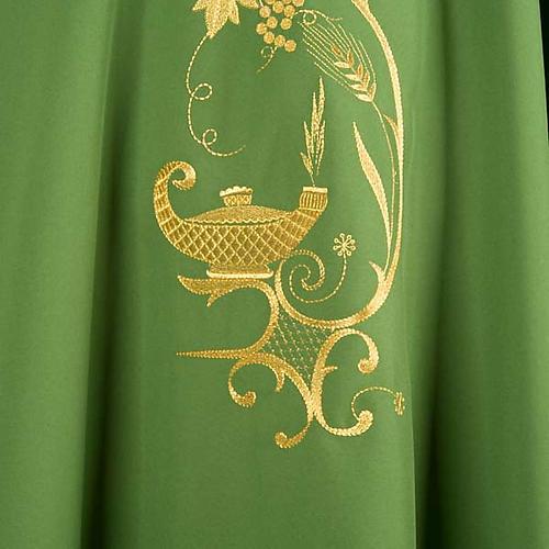 Chasuble liturgique lampe épis dorés 3