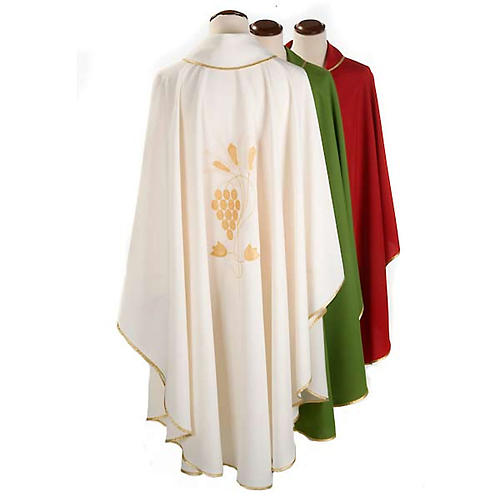 Casula liturgica uva e spighe dorate 2