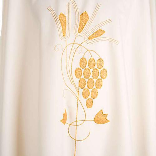 Casula liturgica uva e spighe dorate 3