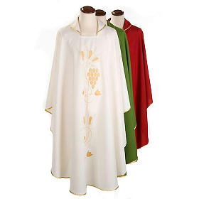 Liturgical vestment with gold grapes and ears of wheat s1