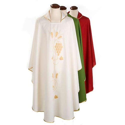 Liturgical vestment with gold grapes and ears of wheat 1