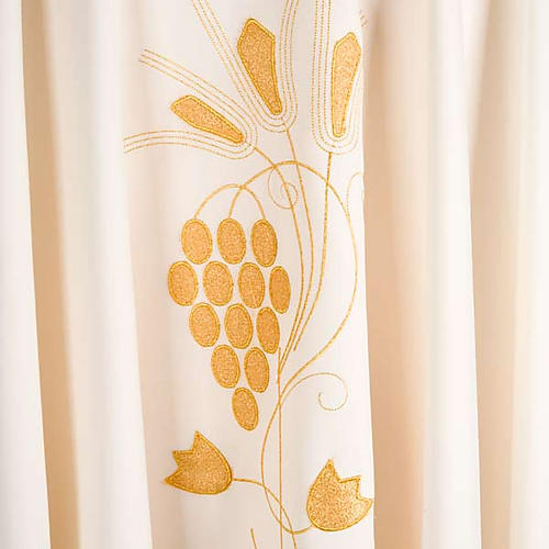 Liturgical vestment with gold grapes and ears of wheat 4