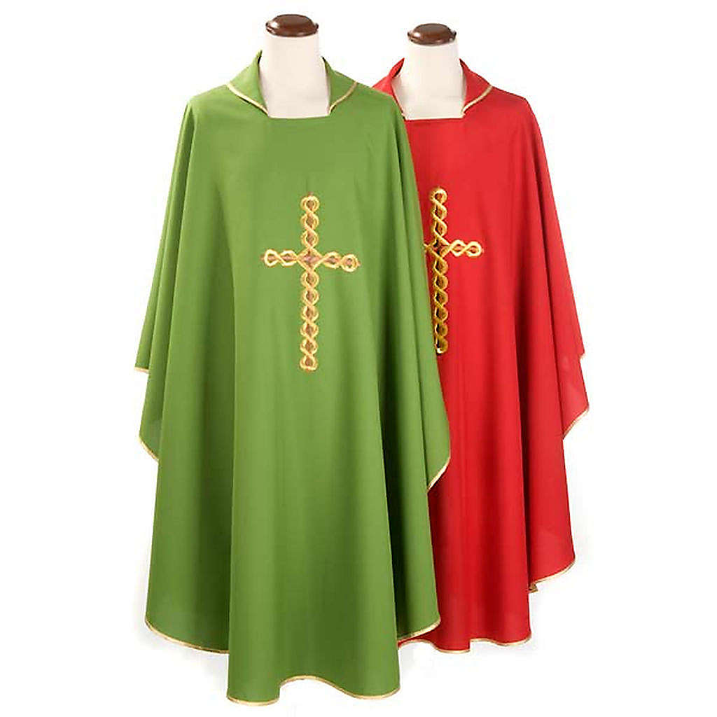 Catholic Chasuble with Spiral Cross 4