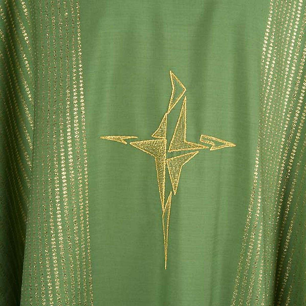 Chasuble lurex croix stylisée 4