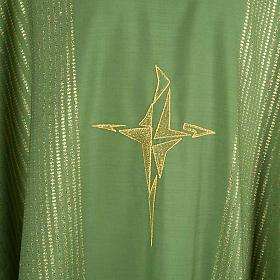 Casula lurex croce stilizzata s3